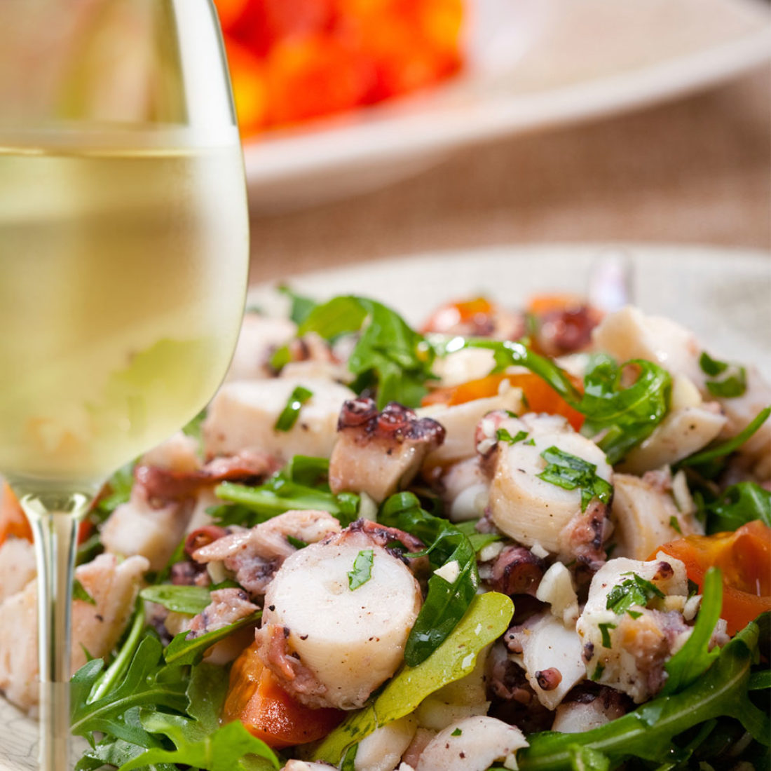 Grilled Octopus with Celery and Cannellini Bean Salad
