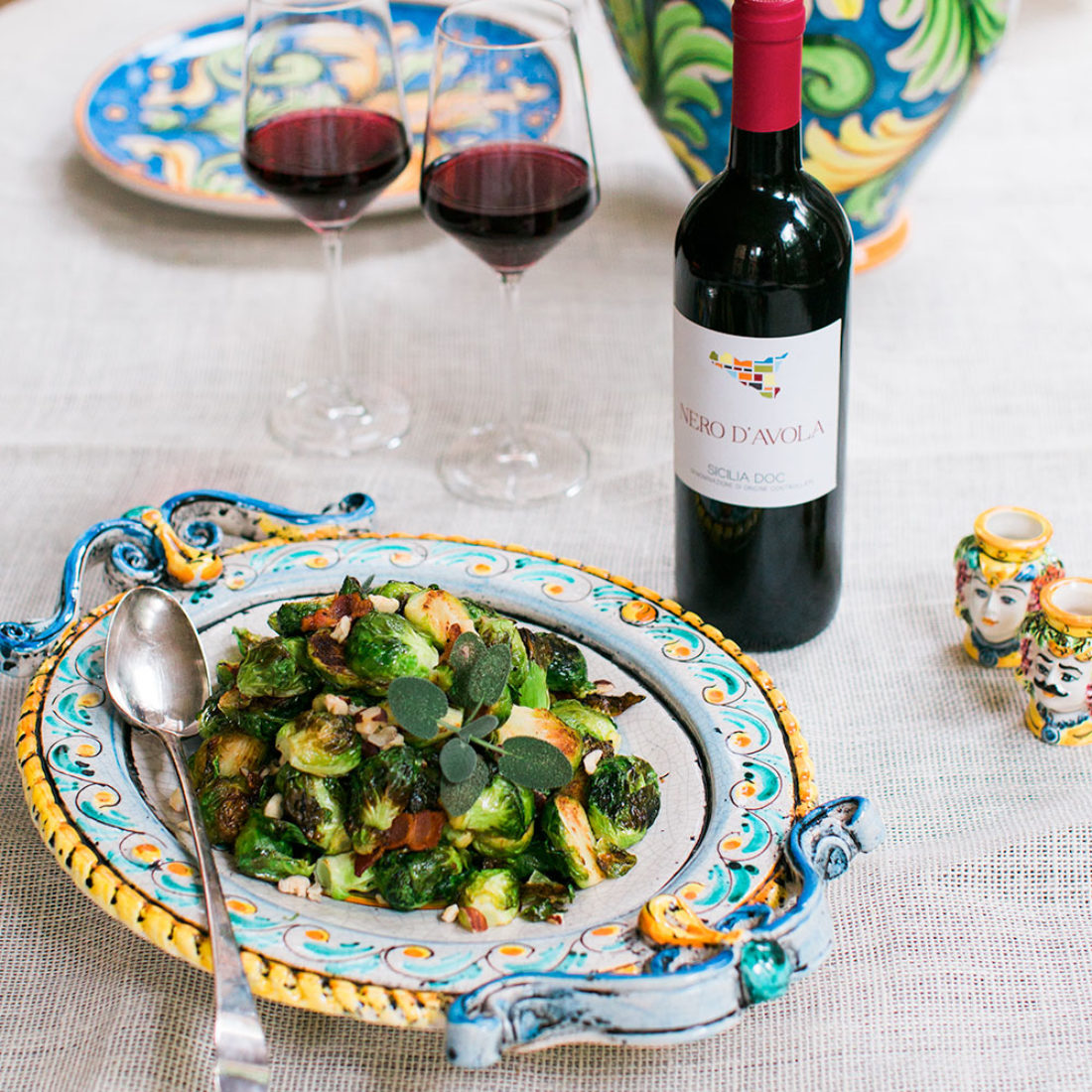Roasted Brussels Sprouts with Pancetta and Sage