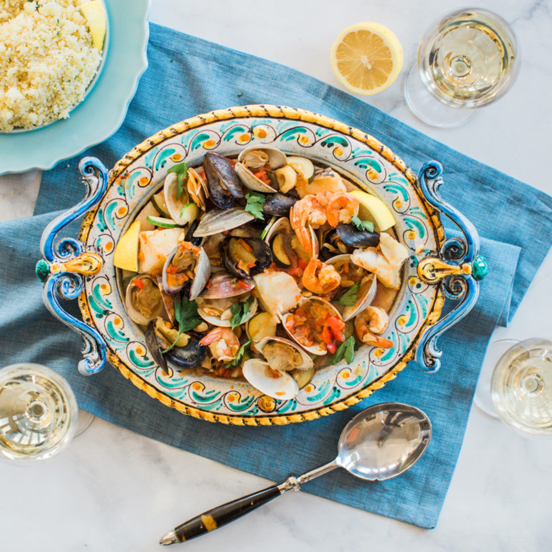 Sicilian Seafood Stew and Couscous