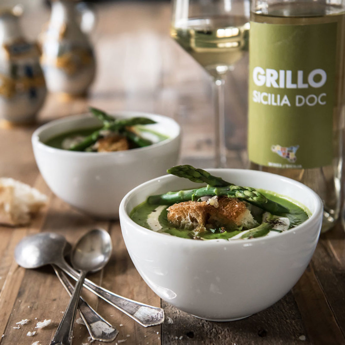 Chilled Asparagus and Pea Soup